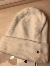 New Authentic Moncler Berretto Rib -Knit Beanie Tricot Ski Hat White One Size