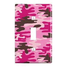 Pink Camouflage Plastic Wall Decor Toggle Light Switch Plate Cover