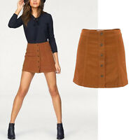 wow Cord ROCK Mini Kord Retro 70er Gr.32 COGNAC SKIRT Kordrock kurz STRETCH