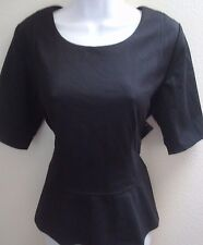 top blouse large l petite pl black womens new nwt casual career style & co