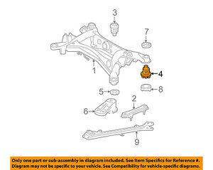 52275-53030 Toyota Cushion, rear suspension member body mounting, rear 522755303