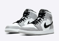 Nike Air Jordan 1 Mid Light Smoke Grey Black White 554724-092 MENS 13