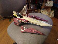 Star Wars AOTC Obi Wan Kenobi Star Fighter Hasbro 2001 EUC Near Complete