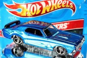 2012 Hot Wheels Super Speeders Models #7 '69 Mercury Cougar Eliminator blue