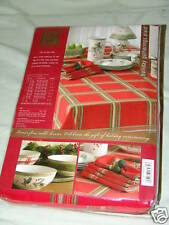 Tablecloth Lenox Holiday Gatherings Plaid 70 in Round