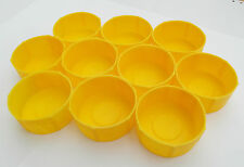 Pack of 10 MDI Protective Plastic Fishing Rod Tubes 2.5in (6.3cm) End Cap Yellow