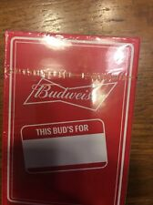 Budweiser Playing Cards Brand New Unopened Package