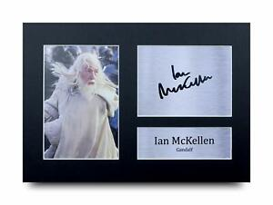 Ian McKellen Signed Printed Autograph A4 Photo Gift For a Lord of the Rings Fan