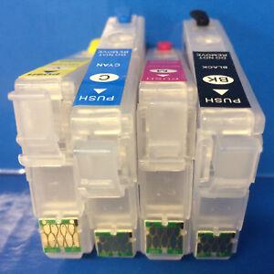 SUBLIMATION REFILLABLE Empty Cartridges Epson Expression Home XP332 XP432 XP435