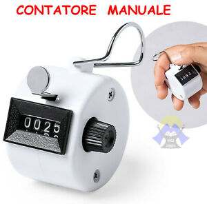 CONTATORE Meccanico MANUALE a 4 CIFRE Contacolpi PUNTEGGIO Clic GOLF Boxe PUNTI