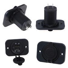 Dual 2 USB Steckdose 2.1A Port Buchse Ladegerät für Auto Boot Motorrad 12 V wg