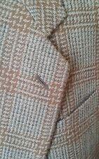 ARMANI COLLEZIONI 42R Tweed WOOL CASHMERE Plaid Blue Tan Sport Jacket Blazer Men