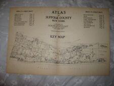 Antique 1915 Suffolk County Long Island New York Map Amityville Sag Harbor Islip