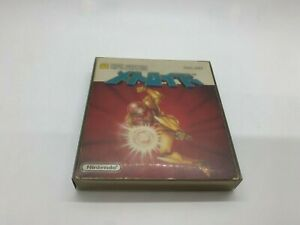 Metroid Famicom Disk System Nintendo Complete w/Stickers Tested US Seller