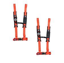 "Pro Armor 4 Point Harness 2"" Pads Seat Belt Pair Orange Can Am Maverick X3 All"
