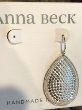 Medium Teardrop SINGLE Earring ANNA BECK Sterling Silver
