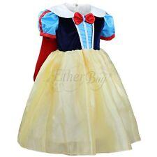 Kids Girls Snow White Princess Halloween Cosplay Tutu Dress Party Fancy Dress Up