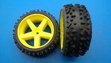 SLD Mondial-Reifen verklebt auf gelben Felgen für FG Marder