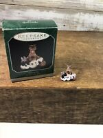 SHARING JOY RODNEY REINDEER HALLMARK MINIATURE KEEPSAKE ORNAMENT 1998