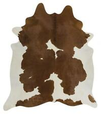 Exquisite Natural Cow Hide Rug, Brown / White