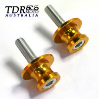 NEW 10MM Rear Swingarm Spools Sliders for Kawasaki Versys 650 KLE650 2008-2013