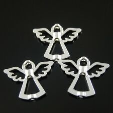 38209 Vintage Silver Alloy Angel Beaded Pendant Charms Findings Crafts 10pcs