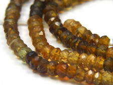 """Natural Top Quality Petro Tourmaline Gemstone Faceted Rondelle Beads 13"""" Strands"""