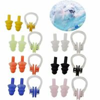 New UK Silicone Ear Plugs & Nose Clip Set Case Swimming Water Pool Sea KIT LEARN