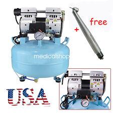 Noiseless Oil Free Oilless Air Compressor 30L 550W 130L/min for 1PC Dental Chair
