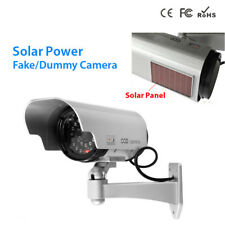 Solar Power Fake Dummy Surveillance Camera Indoor/Outdoor CCTV Security w/ LED