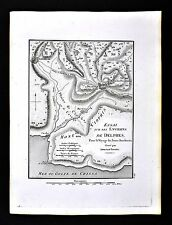 1822 Tardieu Map - Essai Environ of Delphi Plan Mount Parnassus - Ancient Greece
