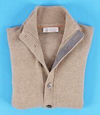 BRUNELLO CUCINELLI 100% Cashmere Cardigan Sweater - Tan - 48 S Small