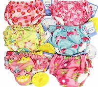 Lot of 3 I Play Girl's Bathing Suit Ultimate Reusable Washable Swim Diapers 12M