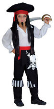 BOYS KIDS PIRATE CAPTAIN FULL FANCY DRESS UP COSTUME OUTFIT AGE 4-6 NEW
