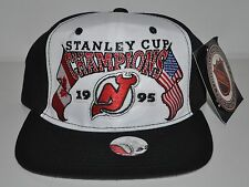 NWT vintage New Jersey Devils 1995 Stanley Cup Champions Snapback Hat/Cap NHL
