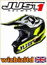 JUST1 Casco Mx J32 pro - Rave Neon Giallo - Nero - Piccolo JUS309S
