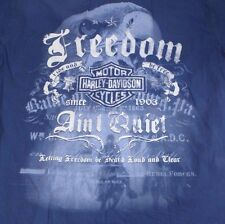 Mens Medium Harley Davidson Freedom Aint Quiet Bttn Down Shirt