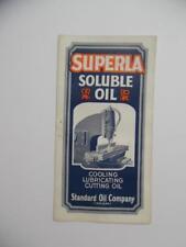 c.1928 Standard Oil Co SUPERLA Soluble Cutting Oil Machine Tool Brochure Vintage