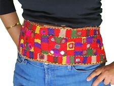Beautiful Multicolor Kuchi Hand Embroidered Textile Trim Mirror Bellydance Belt