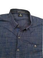 Kuhl Men's  Polyester Blue Plaid Short Sleeve SHIRT SIZE LARGE L TAPERED FIT