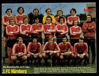 Kicker Mannschaftsbild 1.FC Nürnberg 1975-76 14x Original Signiert # G 31758
