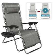 Zero Gravity Chair Lounge Chairs Lawn /w Cup Holder Portable Recliner for Beach