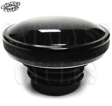 Black Gas Cap Vented Fuel Cap For Harley 1982-Up Single Cap Gas Tank