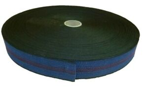 """BLUE - ELASTIC 2"""" UPHOLSTERY WEBBING for Chairs, Seats & Furniture"""