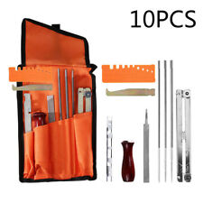 10 Piece Chainsaw Chain Sharpening Kit Tool Set Guide Bar File Sharpener Useful