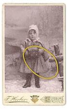 Duisburg, Kgr. Preußen, Käthe Schlegtendal als kleines Mädchen, CDV, 1890er
