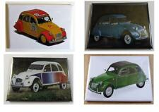 "Lot de 4 Magnet Aimant Frigo Citroen ""2 CV"" Long 78 mm Haut 54 mm Neuf Emballé"