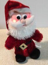 "Christmas Animated Santa Musical Lighted Plush Stuffed Animal DanDee 9"""