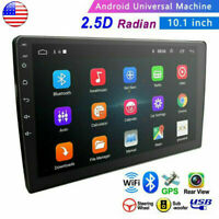 """Double 2 Din 10.1"""" Android 9.1 GPS Navi Car Stereo Radio WiFi MP5 2.5D Screen"""