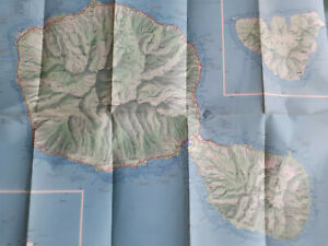 Vintage 1964 Tahiti tourism map
